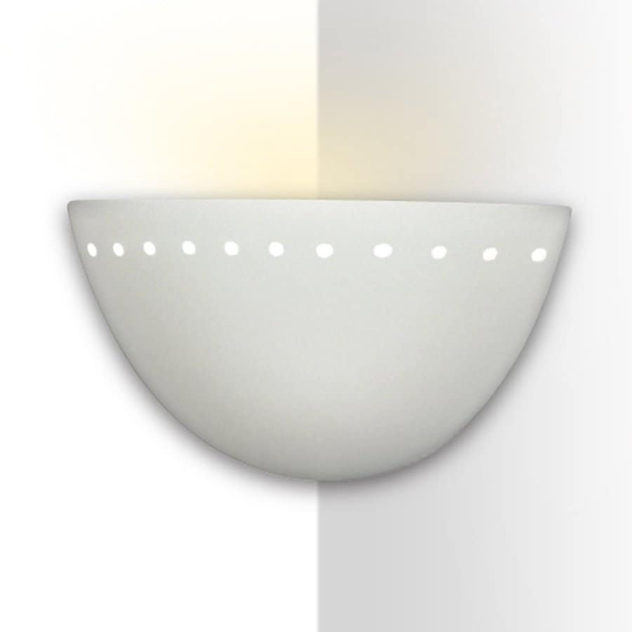 A-19 Islands Of Light Gran Cyprus 10-in W 1-Light Unfinished Bisque Pocket Hardwired Wall Sconce