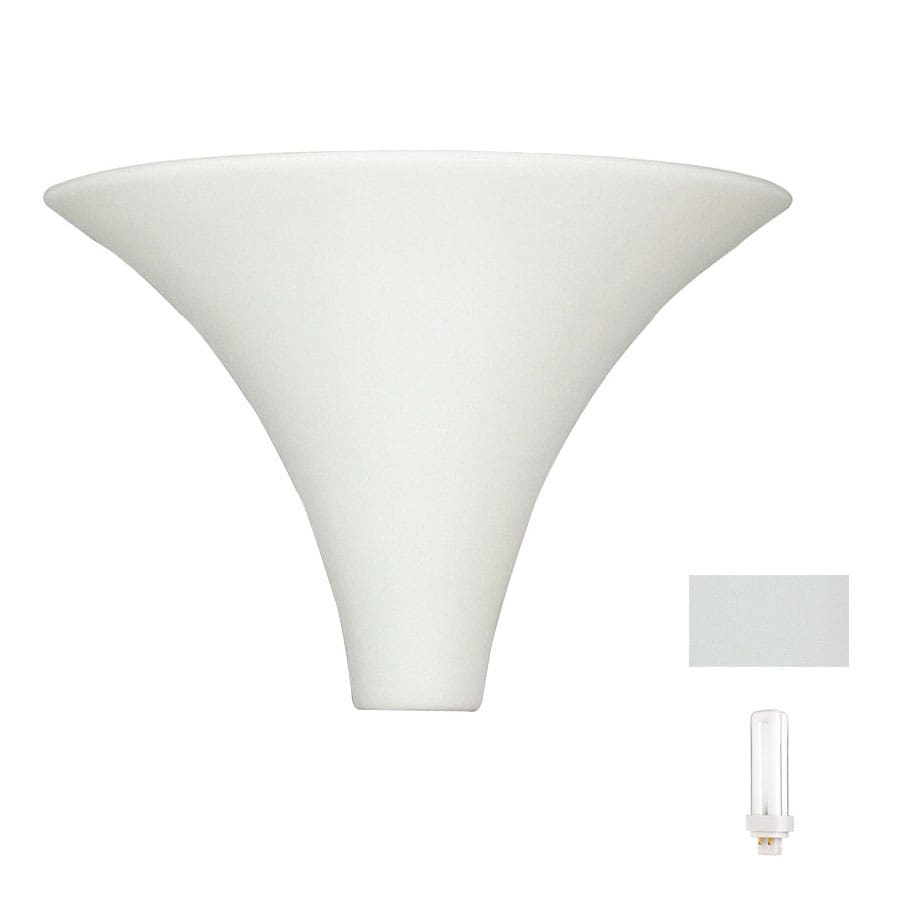 A-19 Islands of Light Madera 13.25-in W 1-Light Bisque- Unfinished Pocket Hardwired Wall Sconce