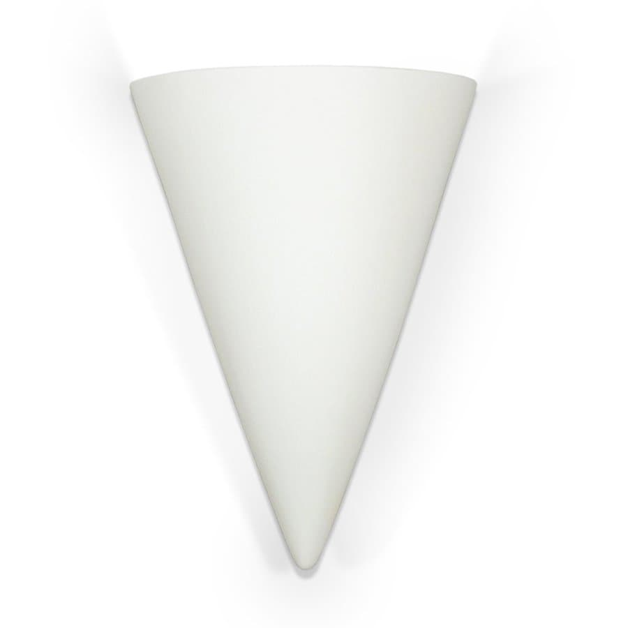 A-19 Islands Of Light Icelandia 7.75-in W 1-Light Unfinished Bisque Pocket Hardwired Wall Sconce