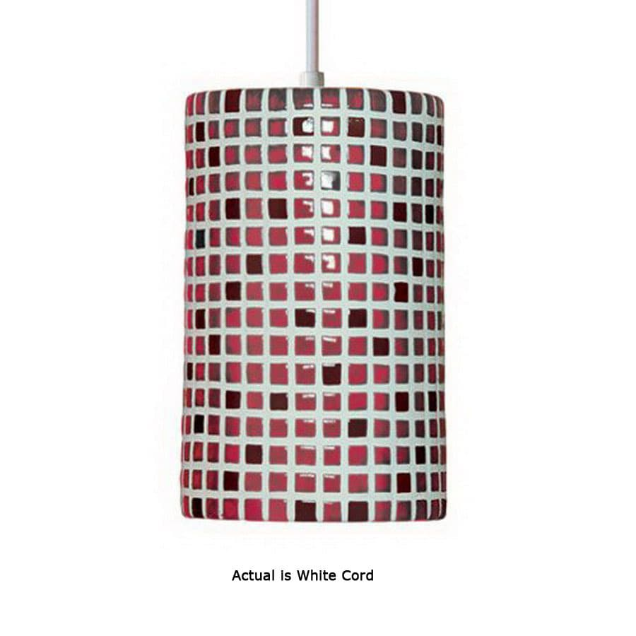 Shop a 19 6 in w mosaic matador red mini pendant light with tiffany a 19 6 in w mosaic matador red mini pendant light with tiffany style aloadofball Image collections