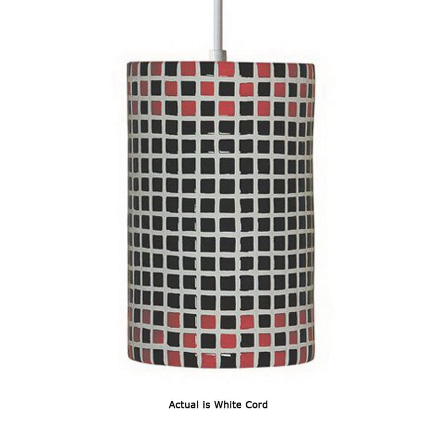 Shop a 19 6 in w mosaic red mini pendant light with tiffany style a 19 6 in w mosaic red mini pendant light with tiffany style shade aloadofball Image collections