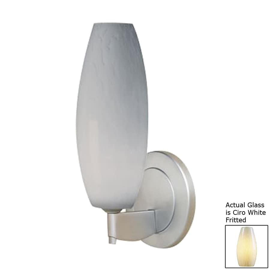Bruck Lighting Systems Ciro 4.5-in W 1-Light Matte Chrome Arm Hardwired Wall Sconce