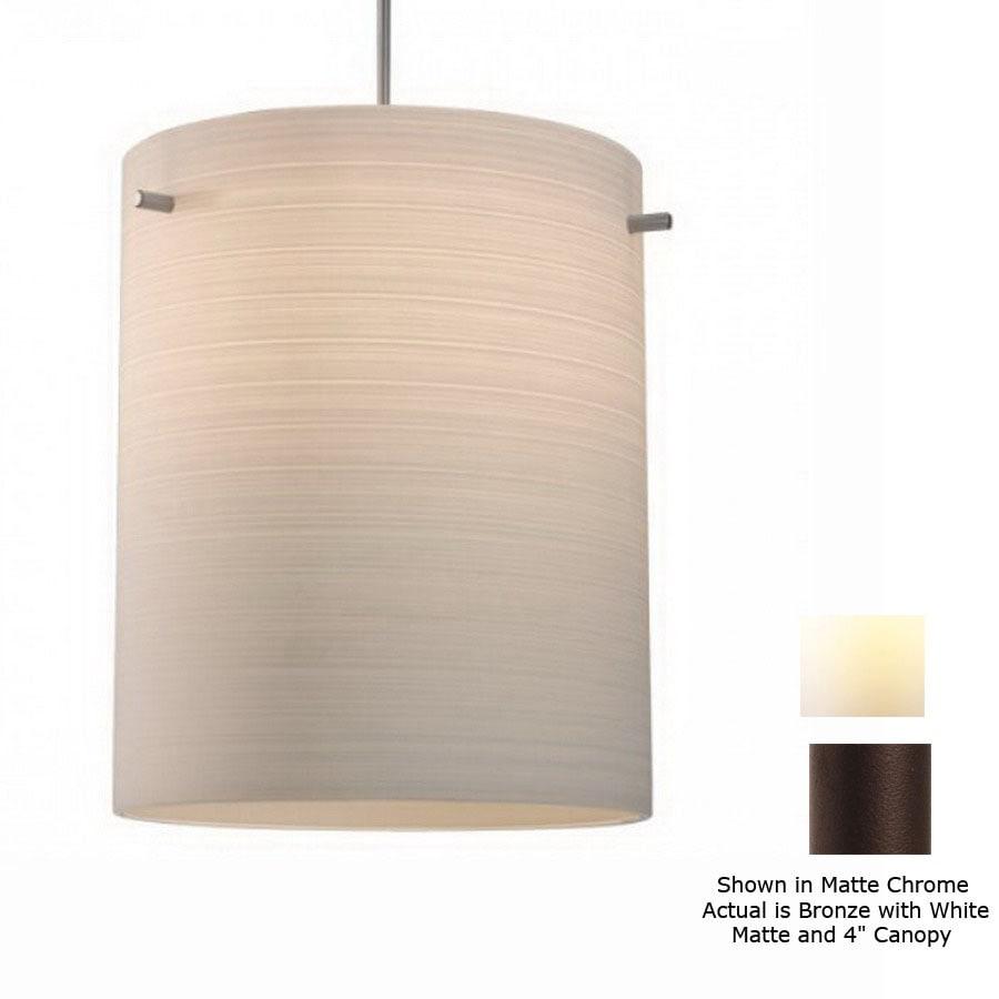 shop bruck lighting systems 8 in w regal bronze art glass mini
