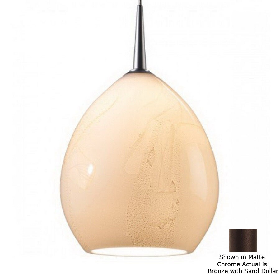 shop bruck lighting systems 5 1 2 in w vibe led bronze art glass