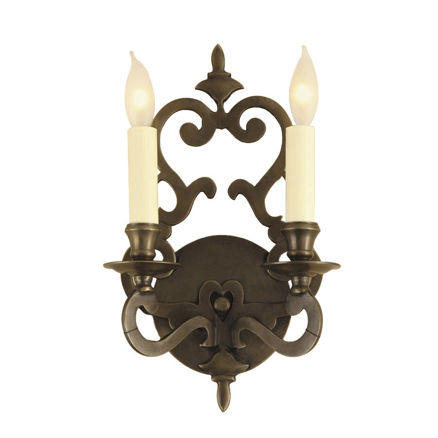 JVI Designs 7.5-in W 2-Light Oil-Rubbed Bronze Arm Hardwired Wall Sconce