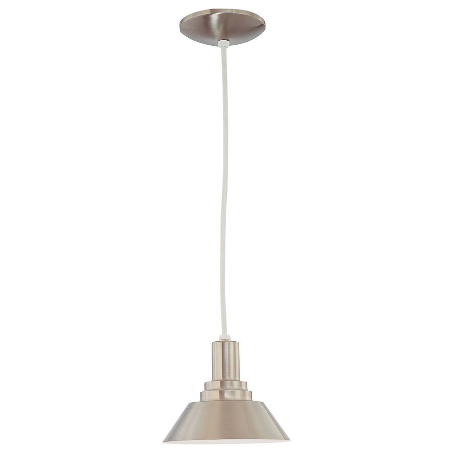 Volume International 8-in Brushed Nickel Industrial Mini Cone Pendant