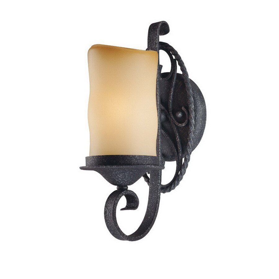 Volume International Sevilla 5-in W 1-Light Antique iron Arm Wall Sconce
