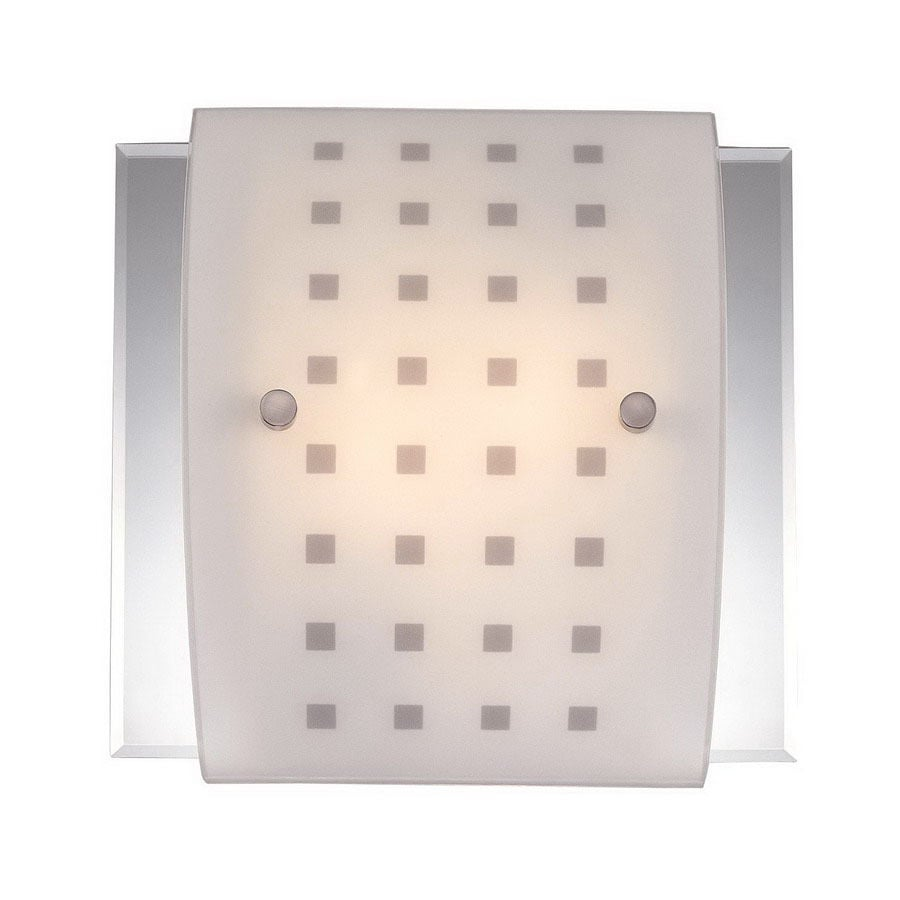 Volume International 12-in W 2-Light Brushed Nickel Arm Hardwired Wall Sconce