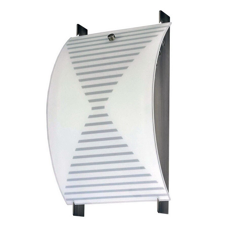 Volume International 8-in W 2-Light Brushed Nickel Pocket Wall Sconce
