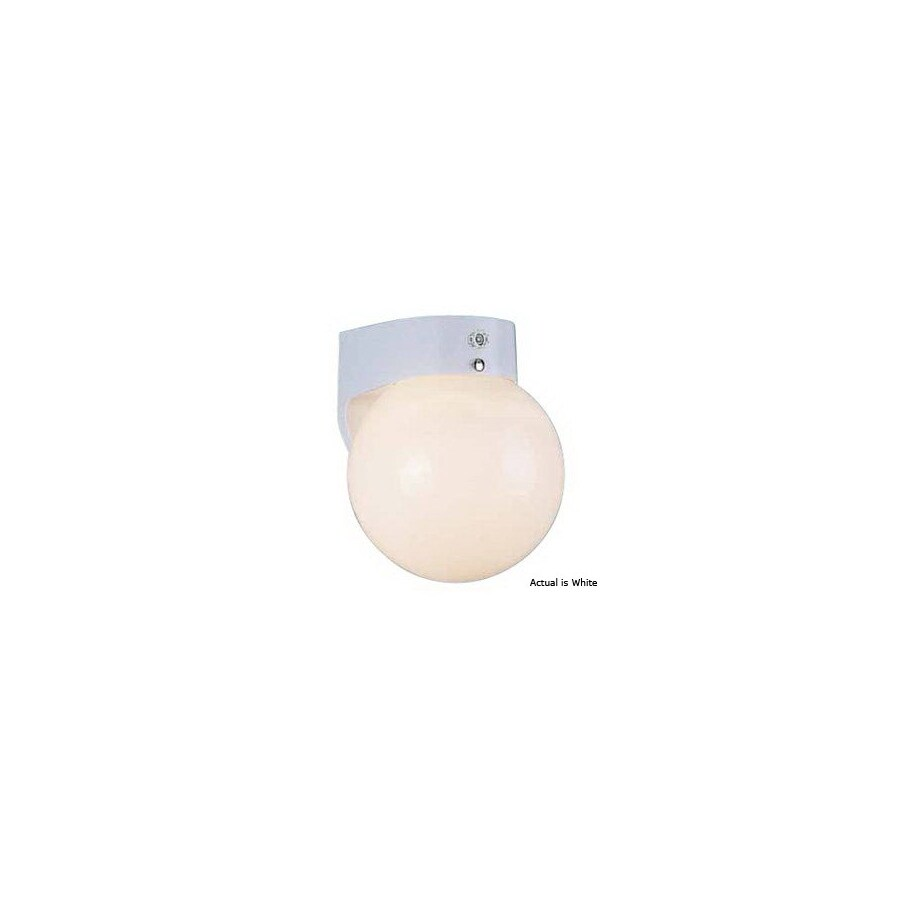 Volume International Globe 7-1/4-in White Outdoor Wall Light