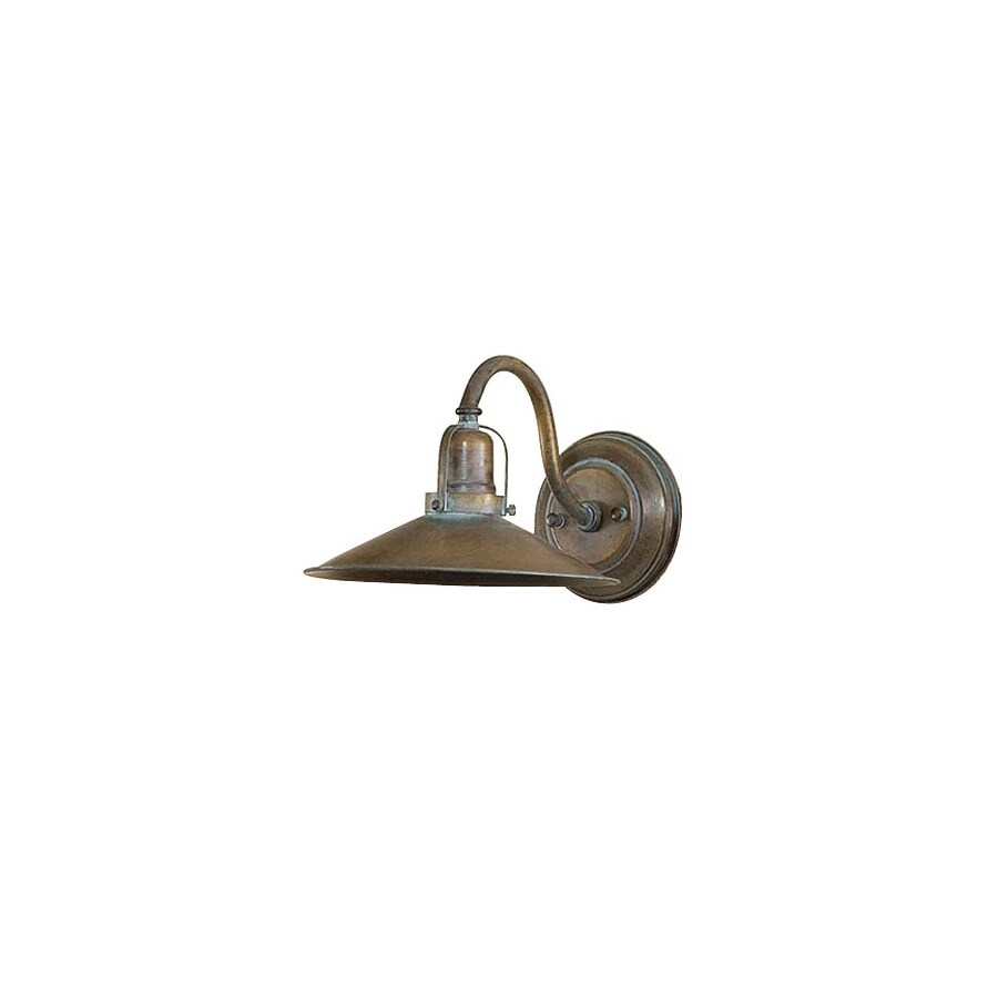 Lustrarte D-ft Avo 9.84-in W 1-Light Antique Green Arm Wall Sconce