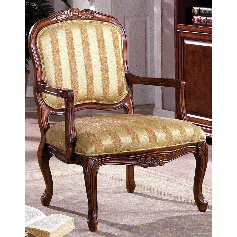 Furniture of America Burnaby Victorian Antique Oak Accent Chair - Furniture Of America Burnaby Victorian Antique Oak Accent Chair At