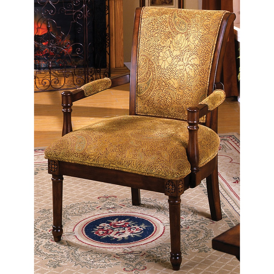 Furniture Of America Stockton Vintage Antique Oak Accent Chair