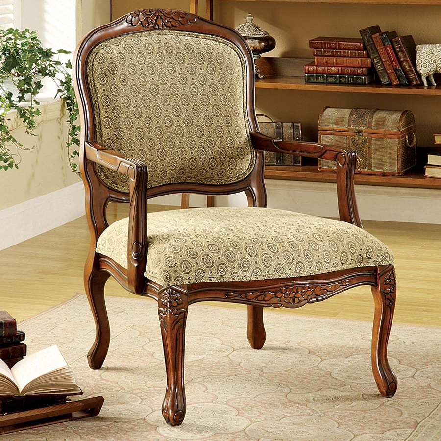 Furniture of America Quintus Antique Oak Accent Chair