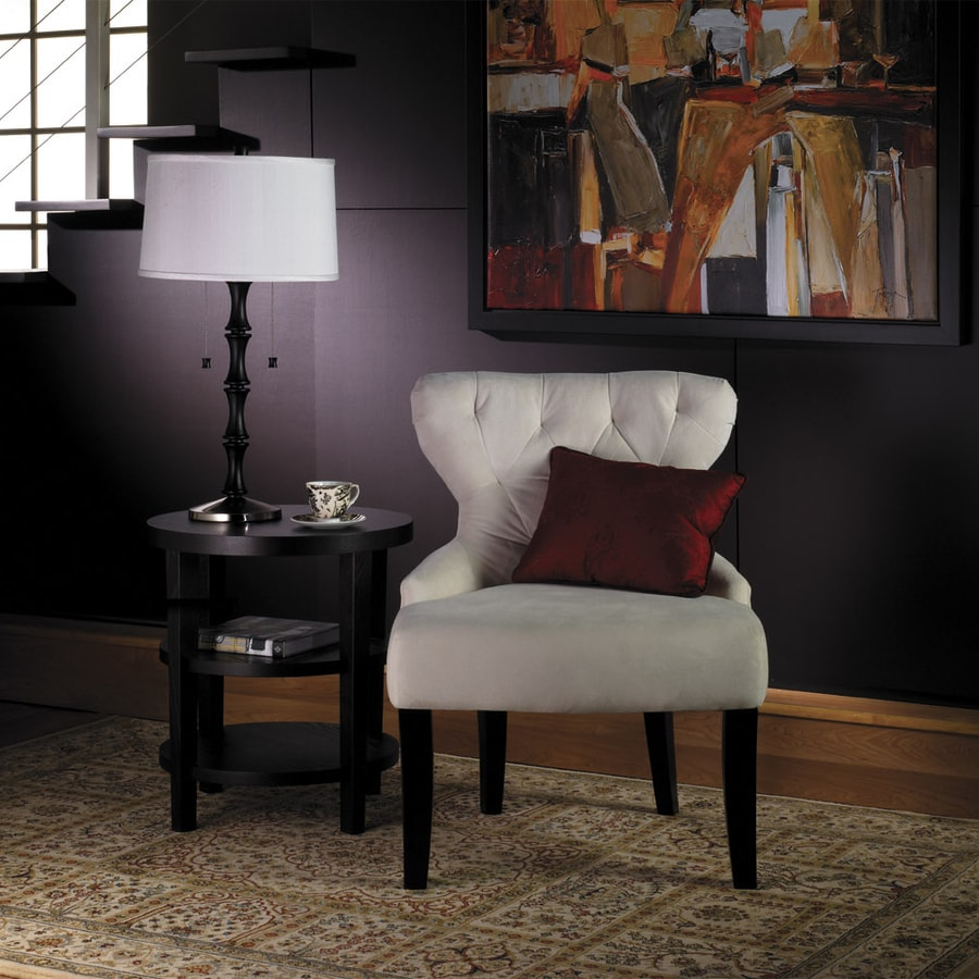 Office Star Avenue Six Vintage Oyster Velvet Velvet Accent Chair