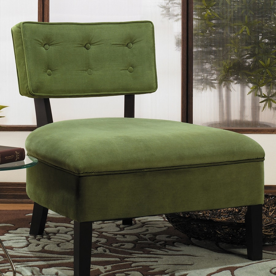 Office Star Avenue Six Midcentury Spring Green Velvet Accent Chair