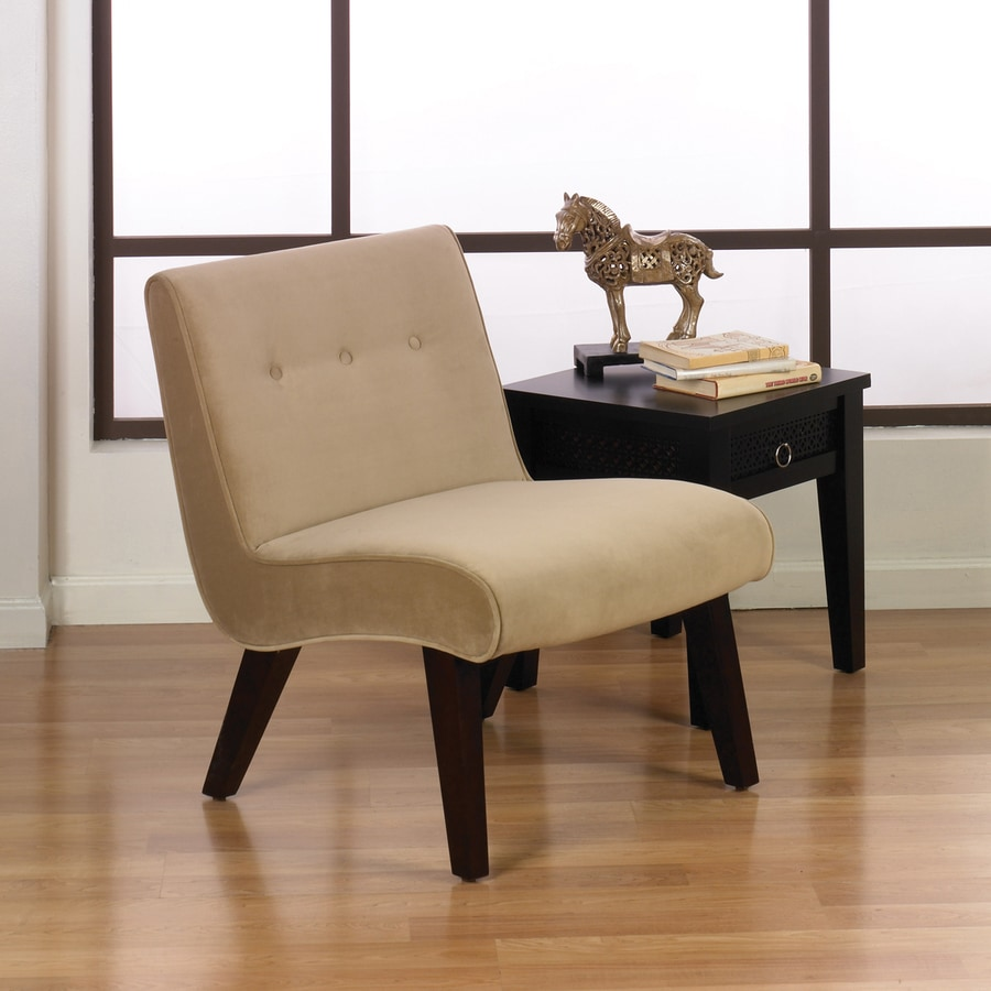 Office Star Avenue Six Coffee Velvet Accent Chair