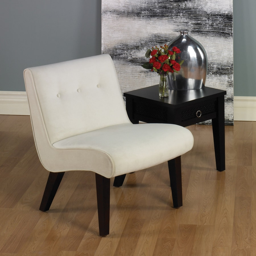 Office Star Avenue Six Oyster Velvet Accent Chair