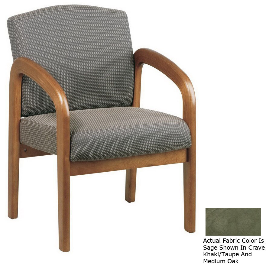 Office Star WorkSmart Medium Oak Accent Chair