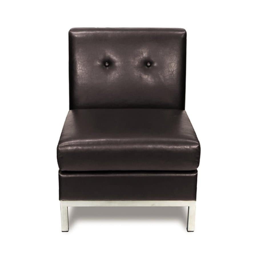 Office Star Avenue Six Espresso Faux Leather Accent Chair