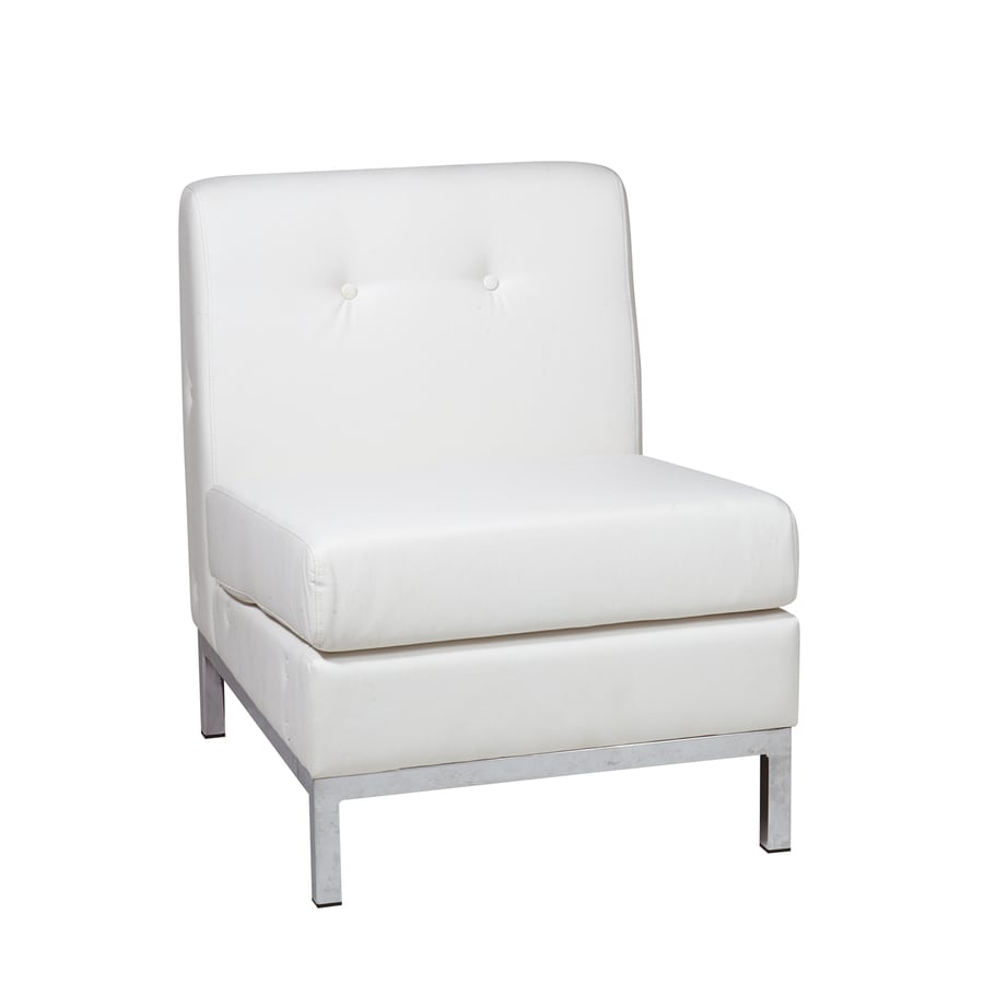 Shop Office Star Avenue Six White Faux Leather Accent Chair At