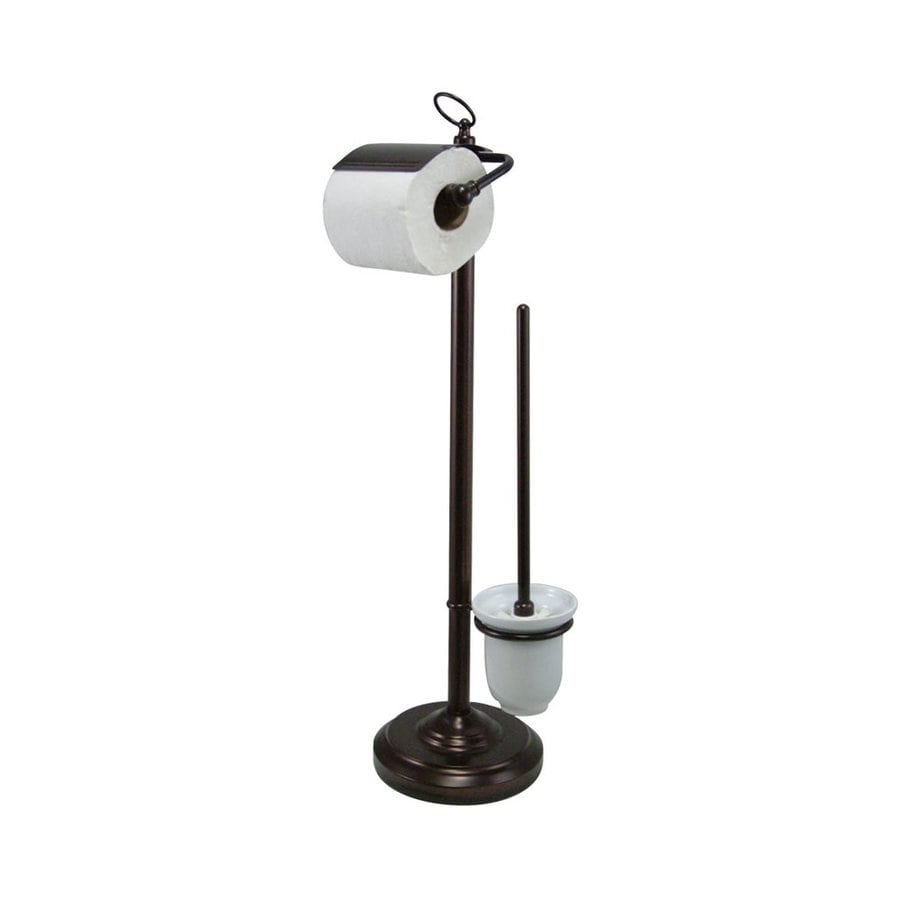 Elements Of Design Vintage Oil Rubbed Bronze Freestanding Floor Spring Loaded Toilet Paper Holder
