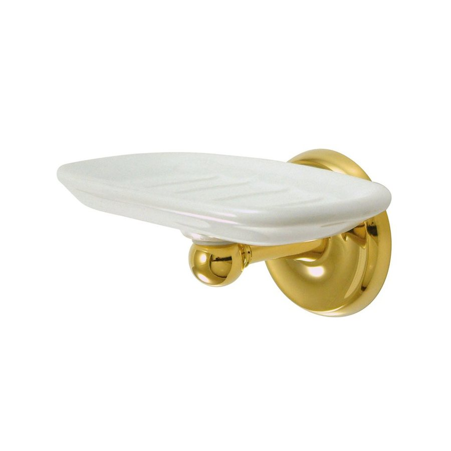 Elements of Design Petosky Polished Brass Brass Soap Dish