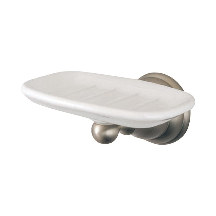 Elements of Design Royale Satin Nickel Brass Porcelain Soap Dish