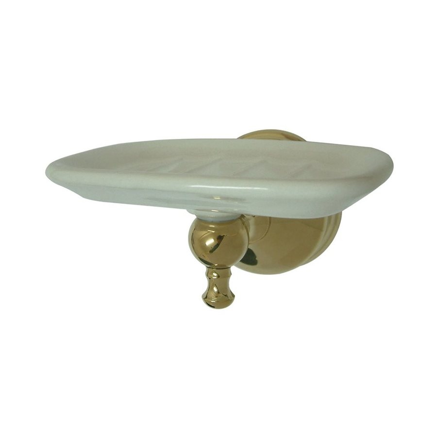 Elements of Design Naples Polished Brass Soap Dish