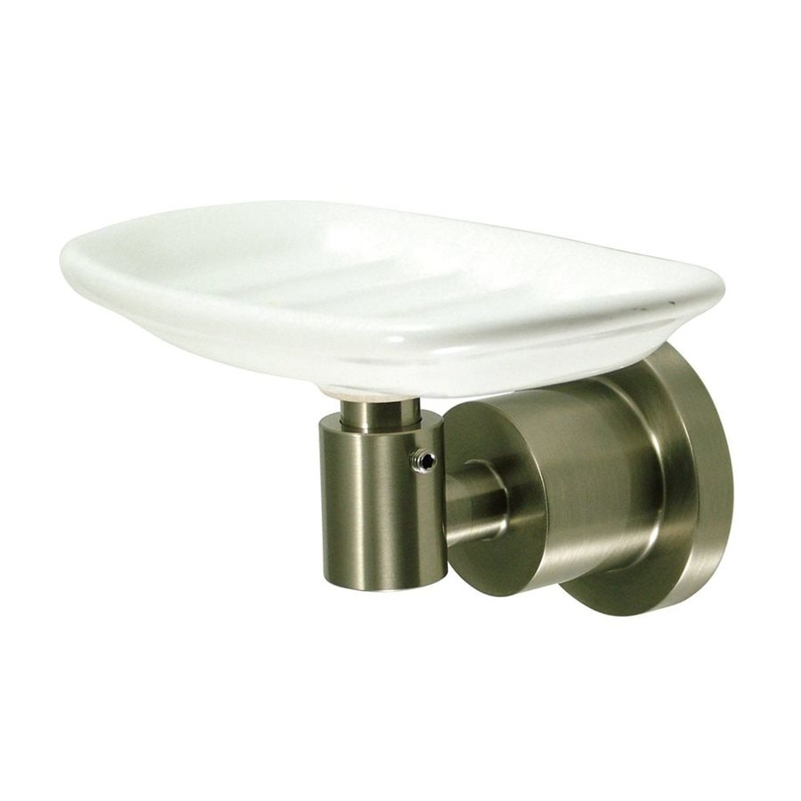 Elements of Design Concord Satin Nickel Brass Porcelain Soap Dish