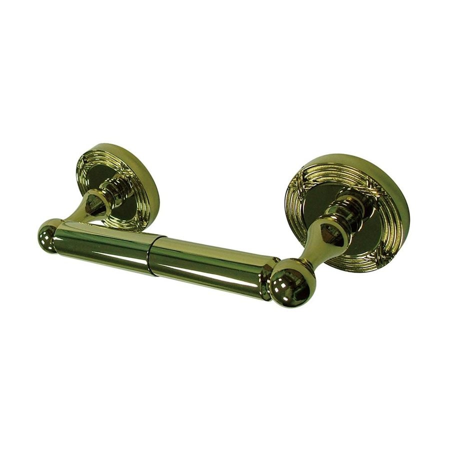 Elements of Design Georgian Polished Brass Surface Mount Spring-Loaded Toilet Paper Holder