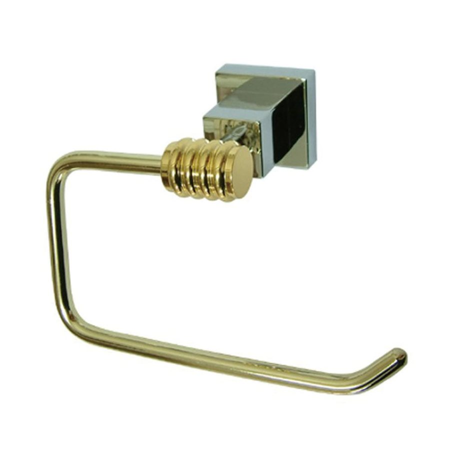 Elements of Design Polished Chrome/Polished Brass Surface Mount Single Post with Arm Toilet Paper Holder