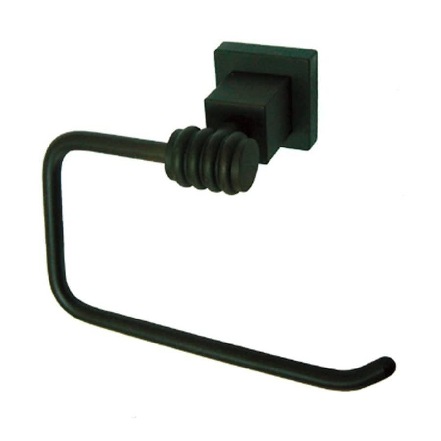 Elements of Design Oil-Rubbed Bronze Surface Mount Single Post with Arm Toilet Paper Holder