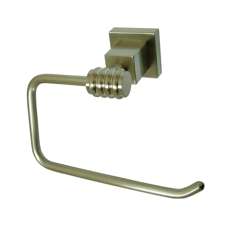 Elements of Design Satin Nickel Surface Mount Single Post with Arm Toilet Paper Holder