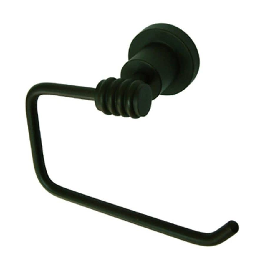 Elements of Design Milano Oil-Rubbed Bronze Surface Mount Single Post with Arm Toilet Paper Holder