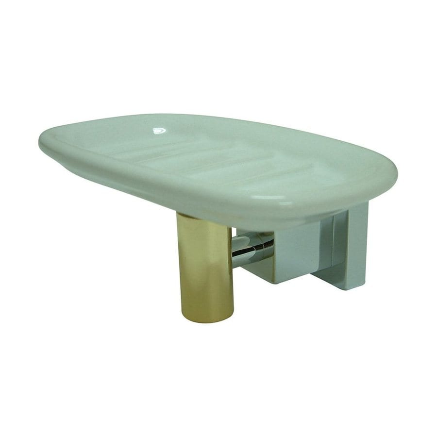 Elements of Design Claremont Chrome/Polished Brass Soap Dish