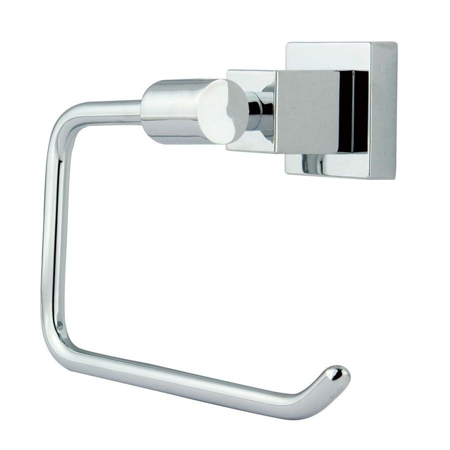 Elements of Design Claremont Chrome Surface Mount Single Post with Arm Toilet Paper Holder