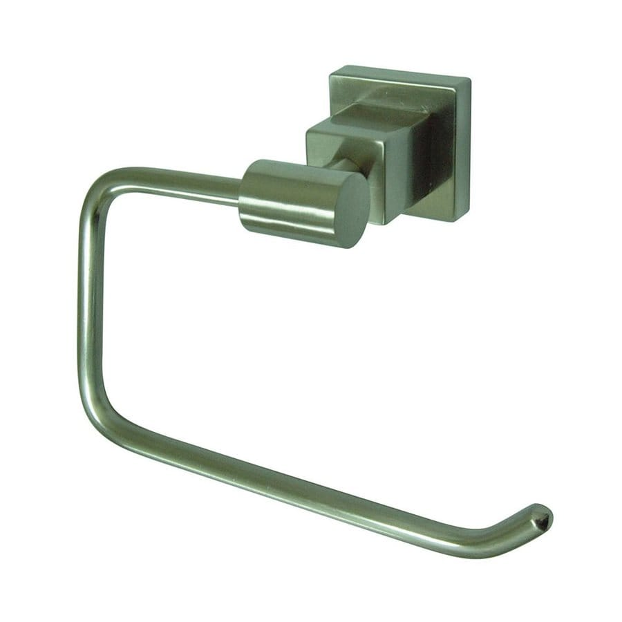 Elements of Design Claremont Satin Nickel Surface Mount Single Post with Arm Toilet Paper Holder
