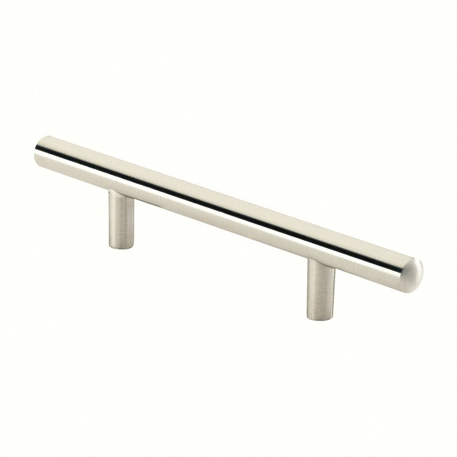 Siro Designs 3-3/4-in Center-To-Center Fine-Brushed Nickel European Railing Bar Cabinet Pull
