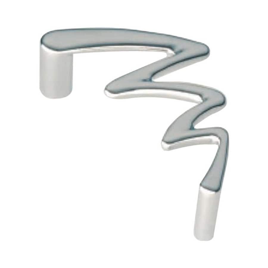 Siro Designs 3-3/4-in Center-To-Center Bright Chrome Jazz Novelty Cabinet Pull