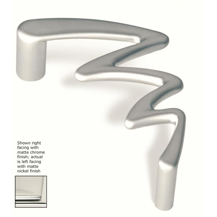 Siro Designs 3-3/4-in Center-To-Center Matte Nickel Jazz Novelty Cabinet Pull