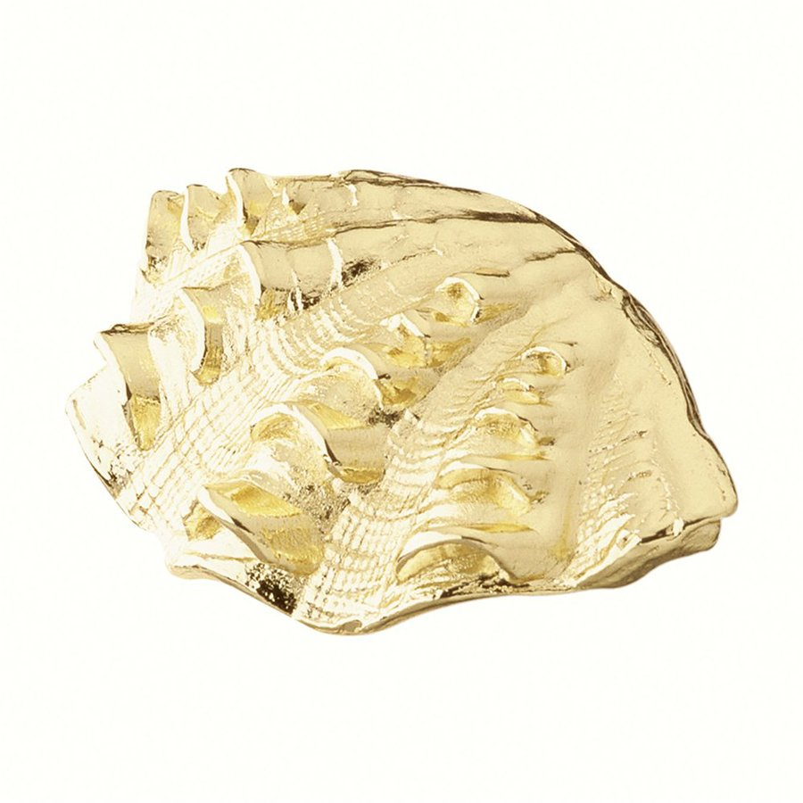 Siro Designs Bright Brass Ocean Novelty Cabinet Pull