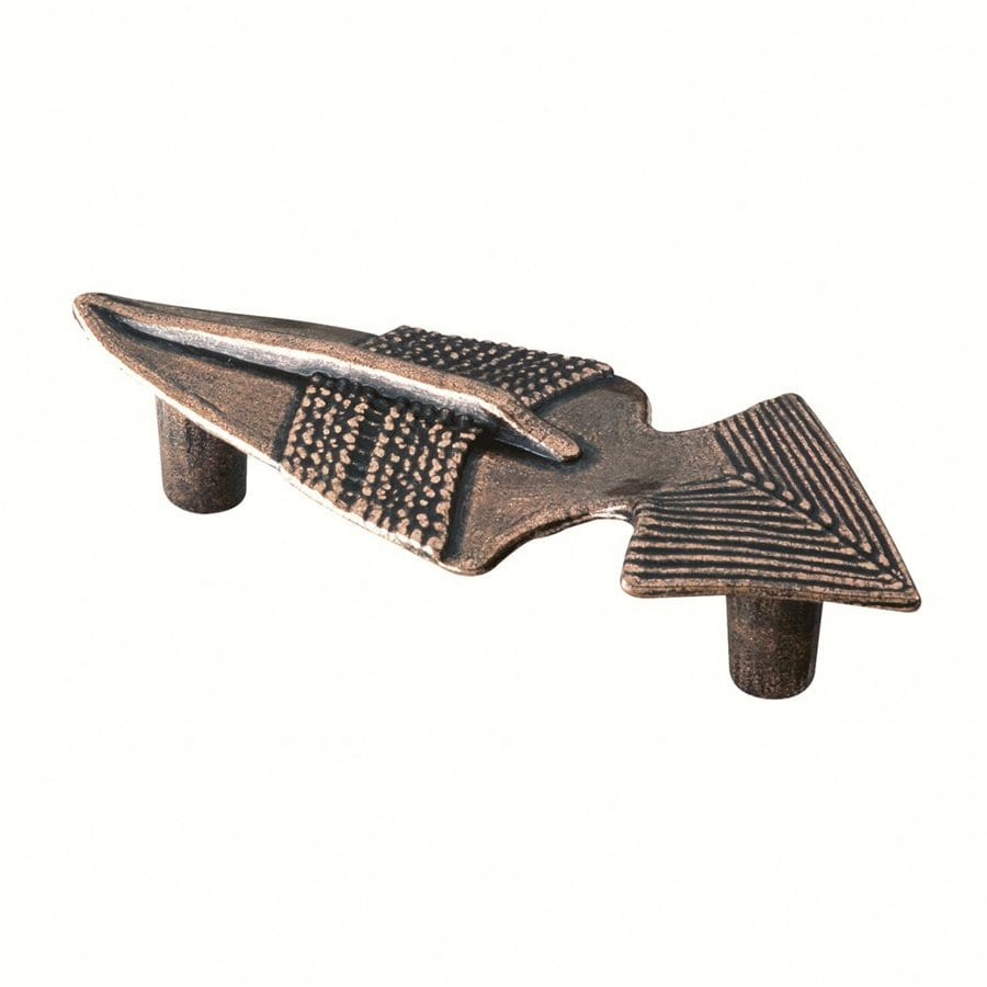 Siro Designs 2-1/2-in Center-To-Center Antique Copper Big Bang Novelty Cabinet Pull