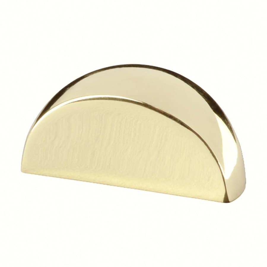 Siro Designs Bright Brass Milan Cup Cabinet Pull