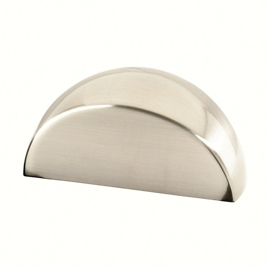 Siro Designs Fine-Brushed Nickel Milan Cup Cabinet Pull