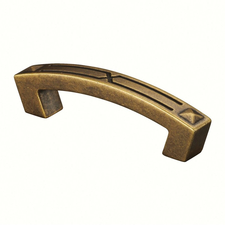 Siro Designs 3-3/4-in Center-To-Center Antique Brass Merida Arched Cabinet Pull