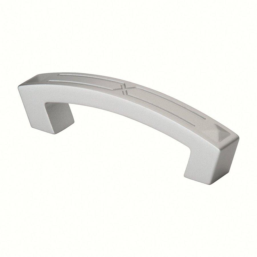 Siro Designs 3-3/4-in Center-To-Center Matte Aluminum Merida Novelty Cabinet Pull