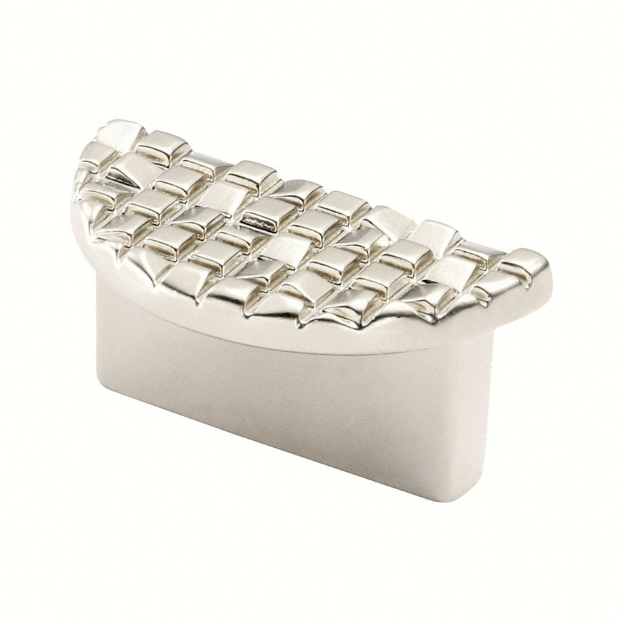 Siro Designs 1-1/4-in Center-To-Center Matte Nickel Mosaic Cup Cabinet Pull