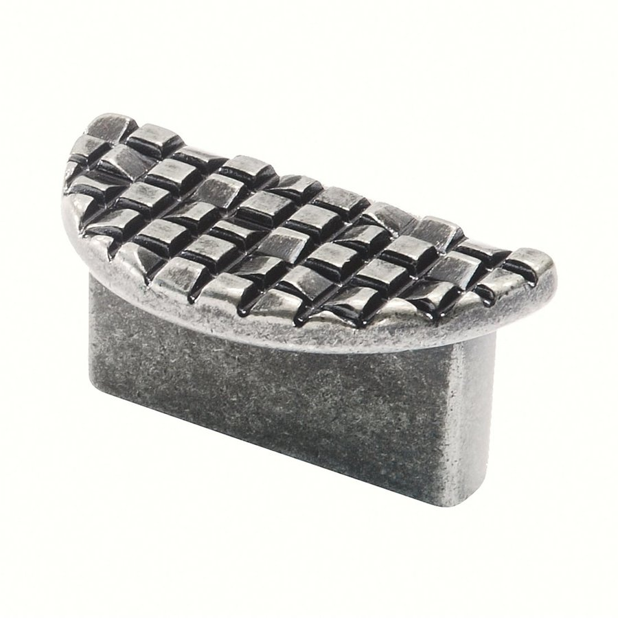 Siro Designs 1-1/4-in Center-To-Center Antique Pewter Mosaic Cup Cabinet Pull