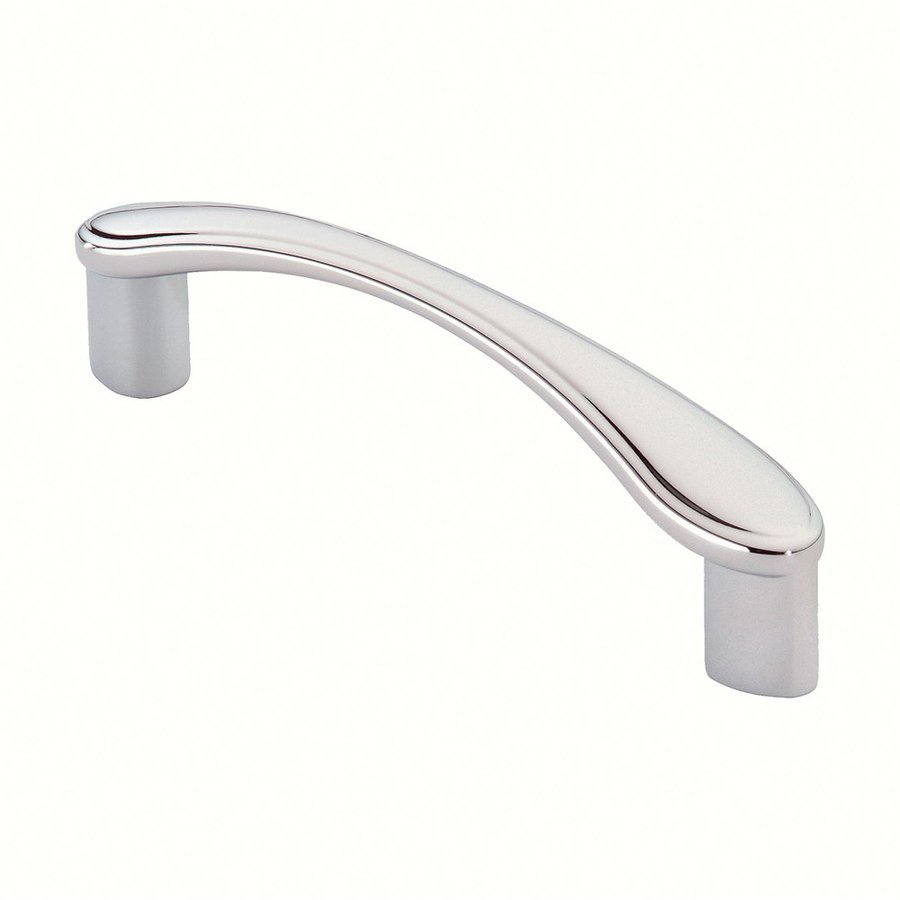 Siro Designs 3-3/4-in Center-To-Center Bright Chrome Belle Epoque Arched Cabinet Pull